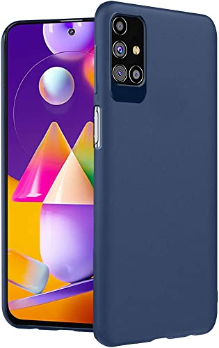 Thegiftkart Imported Matte Soft Back Cover Case For Samsung Galaxy M31s Protective Rubberised Case Oxford Blue Launch Offer