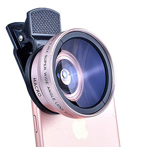 Lunch Box Fisheye Lens, Clip-On Camera Lens Kit,Fisheye+ 0.45 Wide Angle+ 10X Macro Lens voor iPhone 7/6/6s Plus/5/SE, Samsung S8/S7/S6/S5/S4, HTC, huawei en andere Smartphone