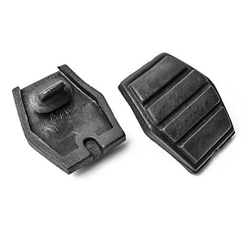 2x Bremspedal Gummi Belag passend für Clio Espace Megane Rapid Scenic Twingo Cabrio | 59 mm x 46 mm | 7700680836