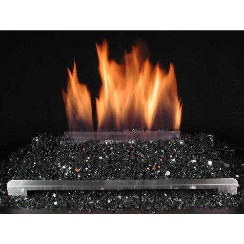 Best Prices! Rasmussen 30-Inch Black ALTERNA See-Thru FireGlitter Set with Vent Free Natural Gas Sta...