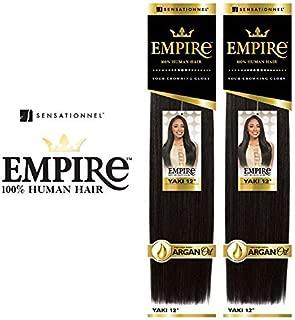 2-Pack Deal ! Sensationnel Human Hair Weave Empire Yaki Weaving (18