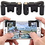 [1 Pair] Mobile Game Controller, Telegaming Sensitive Shoot Fire Buttons and Aim Keys Trigger L1R1 Shooter Controller for PUBG/Knives Out/Rules of Survival/Fortnite, Gaming Joysticks for Android IOS