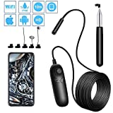 FELICIOO Drahtlose Inspektionskamera 1200P Teles WiFi Endoskop-Kamera mit 8-LED for Android und iOS Smartphone, iPhone, Samsung (Cable Length : 5m)
