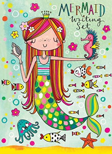 Jewelkeeper Rachel Ellen Princess Mermaid Design Writing Kit, Girls Stationery Paper Letter Set, Stickers, Envelope Seals