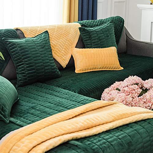Lu Anti-Rutsch Sofaüberwurf Vier Jahreszeiten Verfügbar Sofa Abdeckung Plush Sofa Handtuch Universal Nicht-Slip Sofa sover 1/2/3/4 Satz Sofa Kissen,70x150cm(28x59inch)