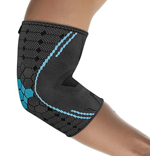 &#10004 COME USARLA: La gomitiera flessibile Farko bonmedico dona sollievo e stabilità all'articolazione del braccio. Può essere posizionata facilmente grazie alla forma anatomica antiscivolo. &#10004 PROTEZIONE: Il tutore per il gomito è in grado di...