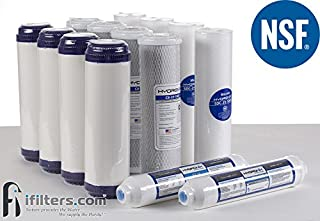Hydronix 5 Stage RO Reverse Osmosis Water Filter Replacement NSF 14 Filters 1-2 yr Supply