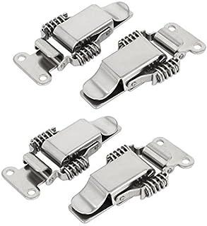 Caso Caja de herramientas eDealMax rectas del acero inoxidable gancho del resorte cargado Toggle Pestillos 4pcs