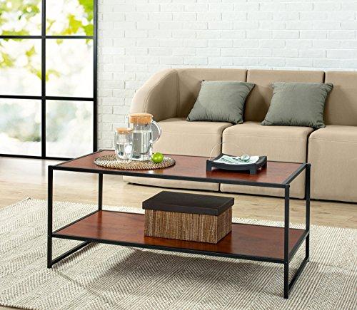 Zinus Modern Studio Collection Deluxe Rectangular Coffee Table, Brown