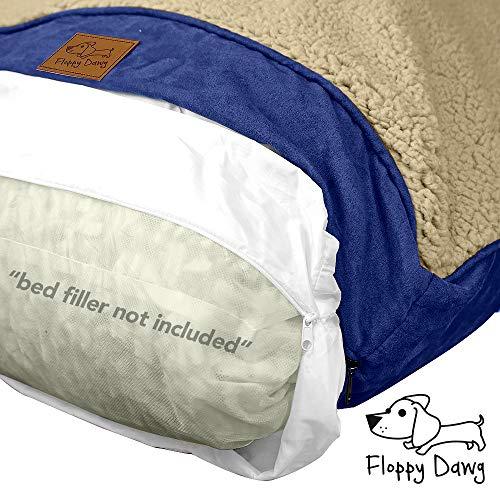 Floppy Dawg Ersatzbezug und wasserdichte Innenauskleidung für Hundebett. Passend für große Hundebetten, 101,6 x 71,1 cm. Save a Damaged Hundebett Schützt ein Kissen. Machen Sie ein neues Bett.