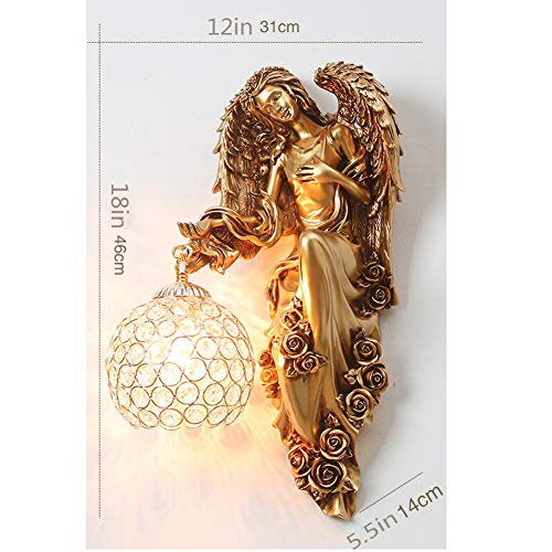 CLX Wandlamp creatief, hars sculptuur Venus woonkamer houder licht engel lantaarn Maria wandlamp kerk muur antiek Griekse mooie godin decoratieve wandlamp