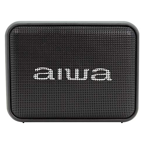 Aiwa BS-200BK: Altavoz Inalámbrico Portátil Bluetooth, True Wireless Stereo, Impermeable, Color Negro