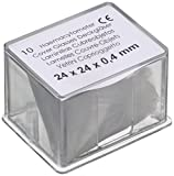 Neolab C 1004 Haem Azytometer - Tapa de cristal (24 x 24 mm, 10 unidades)