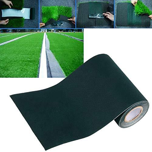 Kunstrasenteppich, selbstklebend, 15 x 500 cm, für Kunstrasen, Kunstrasen, Garten, Hof, Spielplatz im Freien