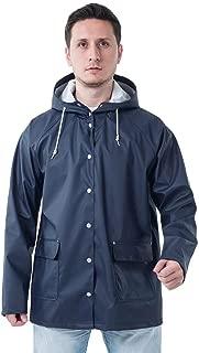 Men's Waterproof Adjustable-Hood Rain Jacket