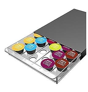 Abeba Tavola Swiss 5049024Cassetto - Dispensador para 30cápsulas Nespresso plástico 45x 35x 25cm, Multicolor