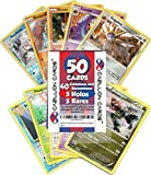 Cazillion Cards Pokemon Cards 50 Card Assorted Lot (Commons/Uncommons, Holos, Rares) Repack