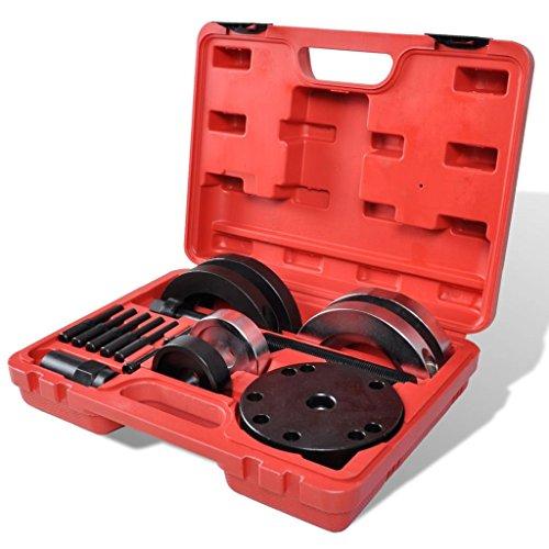 vidaXL Kit Outil Pose et Dépose Roulement Outils de Garage Boîte Malette