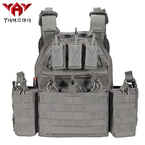 vAv YAKEDA Tactical Vest Military Airsoft Vest for Men (Grey)