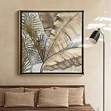 Pintura Al Óleo De Plantas De Lujo Ligero - Bambú Abstracto Pintado A Mano Sale De La Biblioteca Mural Del Cartel De Decoración Del Hogar Hotel Villa Pasillo Comedor De Pintura Colgante Regalos Si