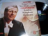 MOZART SYMPHONIES NOS. 25,29 AND 32 COLIN DAVIS LONDON SYMPHONY ORCHESTRA (LP) -  Philips
