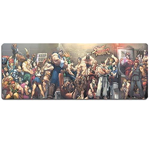 IGIRC Tapis De Souris Street Fighter 800X300Mm, Tapis De Souris Speed Gaming, Tapis De Souris Grand Format XXL avec Base De 2Mm D