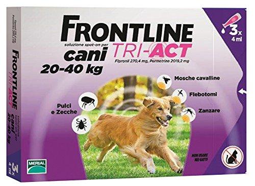 FRONTLINE TRI-ACT*3PIP 4ML PER CANI DA 20-40 KG