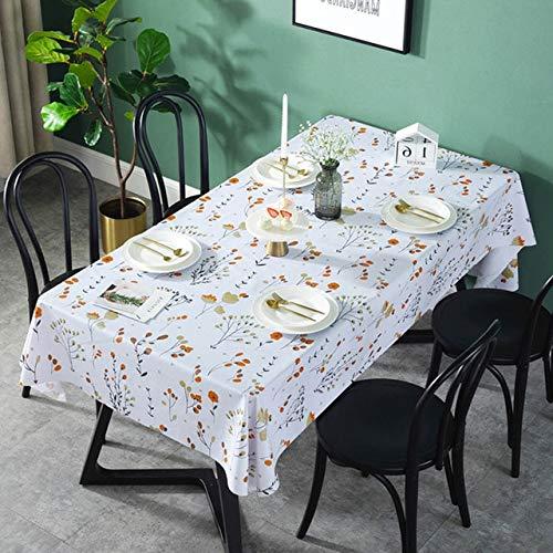 Damuzhi PVC wasserdichte Tischdecken Blumen Tischdecke Hintergrundtuch Tischdecke Wohnkultur 138X180 Jjjjj