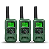 GOCOM FRS Walkie Talkies for Teen & Adults IPX4 Waterproof Long Range Two Way Radios 22 Channel VOX Hands-Free LED Flashlight Tow Way Walkie Talkie 3Pack (G2-3Pack)