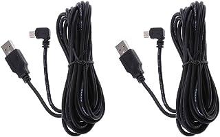 MERIGLARE 2pcs 3,5 Metros 5V 2A Cabo Do Carregador Mini USB 90 Graus para a Direita Dobra Cabo de Cabeça