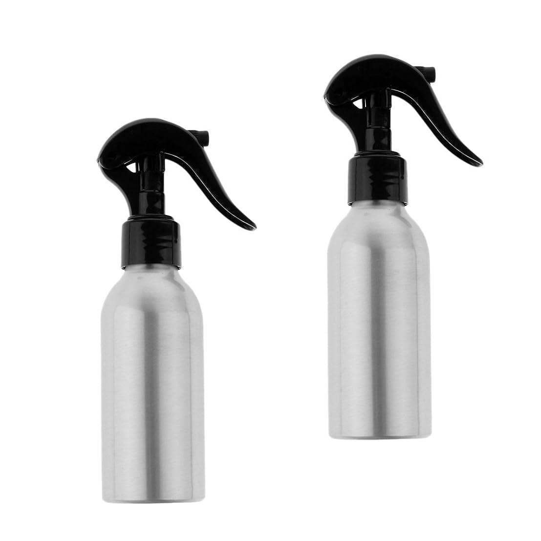行為順番どういたしましてPerfeclan 2個 スプレーボトル 120ml ウォーターミスト トリガー スプレーボトル 空チューブ スプレーボトル 旅行 3色選べる - ブラック