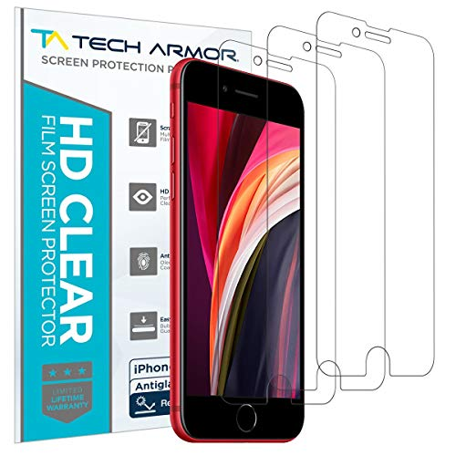 Tech Armor Anti-Glare / Anti Fingerprint Film Screen Protector for Apple iPhone SE 2020 / iPhone 7 / iPhone 8 (4.7-inch) [3-Pack]