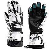 Guanti da sci, guanti invernali da neve, guanti caldi per touch screen, impermeabili, guanti da moto (medi)