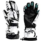 Guantes de esquí, guantes de invierno para nieve, guantes de pantalla táctil, impermeabl...