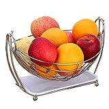 RTYUI Cesta De Fruta De Los Estantes De Almacenamiento del Organizador/Cesta De Almacenamiento del Hogar del Metal del Cuenco De Fruta