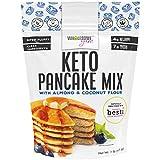 Wholesome Yum Fluffy Keto Pancake Mix - Low Carb Almond Flour Pancake Mix (16 oz / 1 lb) - Non GMO, Gluten-Free, Grain-Free