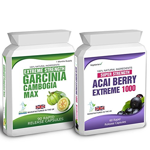 90 Garcinia Cambogia 60 Acai Berry Extreme Weight Loss Slimming Diet Pills