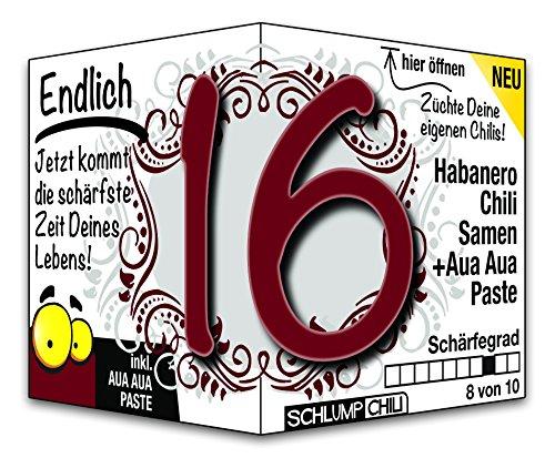 Endlich 16 - das witzige Geburtstagsgeschenk für junge Männer und Frauen :)