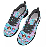 chaqlin Zapatos de correr para mujer para gimnasio de deporte al aire libre, zapatos de trabajo casuales, color Azul, talla 40 EU
