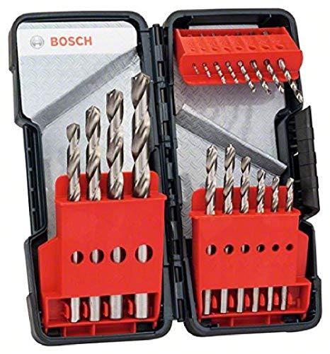 Bosch Professional 18tlg. Metallbohrer-Set HSS-G geschliffen Toughbox