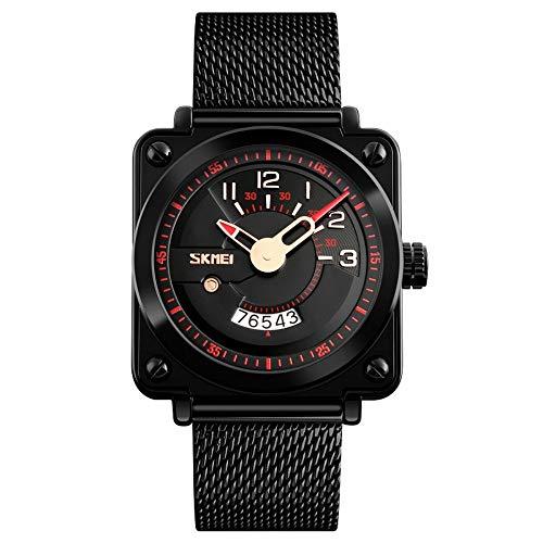 Smartwatches,Quadratischer Stahlarmband-Paar-Uhr-Freizeit-Mode-Kreative Chaozhou-Quarz-Uhr Gules