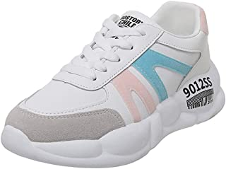 AUCDK Women Fashion Sneakers PU Upper Low Top Casual Trainers with Breathable Lining and Non Slip Sole for Jogging and Gym