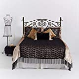 Adhesivo de pared para cabecero de dormitorio de vinilo, diseño shabby chic no real para cabecero de cama (king), decoración de cocina
