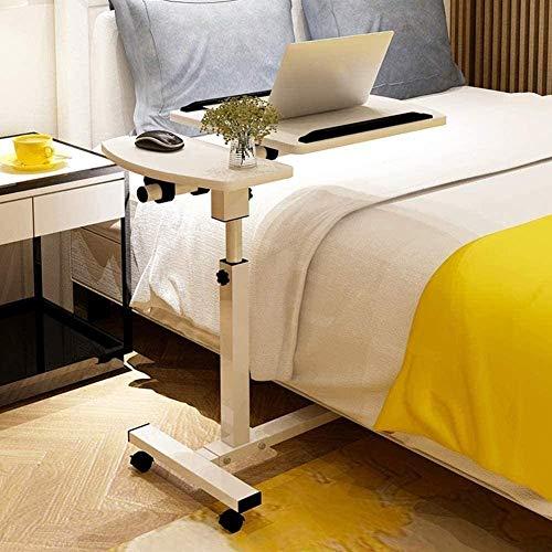 H-CAR Soporte ajustable mesa de ordenador portátil, mesita de noche, mesa simple de madera para dormitorio, oficina, estación de trabajo con ruedas C 57 x 40 cm Color: A, tamaño: 57 x 40 cm