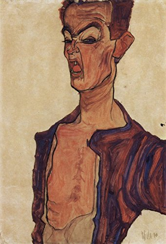 Das Museum Outlet–Selbstporträt, A Grimace Schneiden von Egon Schiele–Poster Print Online kaufen (101,6x 127cm)