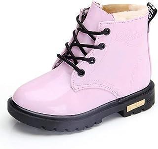 حذاء أطفال من Daclay برقبة للأطفال الأولاد والبنات بلون الحلوى مقاوم للماء والمخملي مارتن