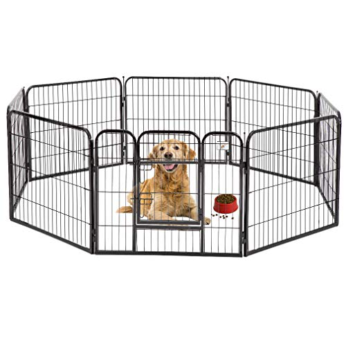 BestPet Black 32' Heavy Duty Pet Playpen Dog Exercise Pen Cat Fence B