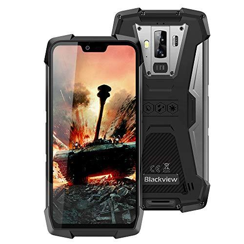 Móvil Resistente, Blackview BV9700 Pro IP68 Smartphone Impermeable, 6GB+128GB SD 256GB, Dual SIM 4G Moviles Libres, 16MP+8MP+16MP Visión Nocturna Cámara, NFC/GPS/Pulsómetro/Face ID