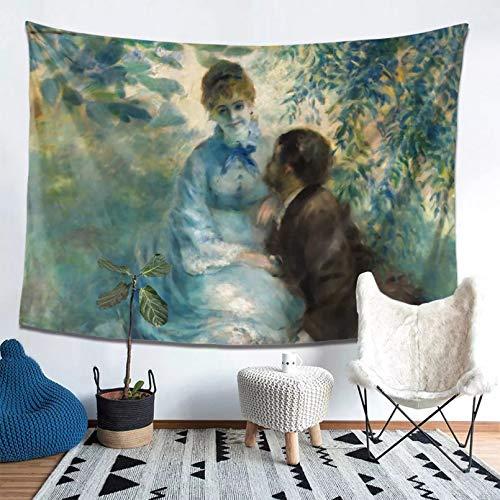 Tapiz Impreso en 3D Auguste Renoir Lovers Tapiz Manta Cortina Artista Pinturas Tapices Poliéster Alfombra de Playa Vintage