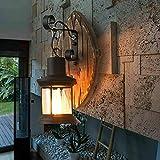 Liciamo - Applique in legno vecchio stile, applique in stile industriale vintage Industriale Muro Lampada